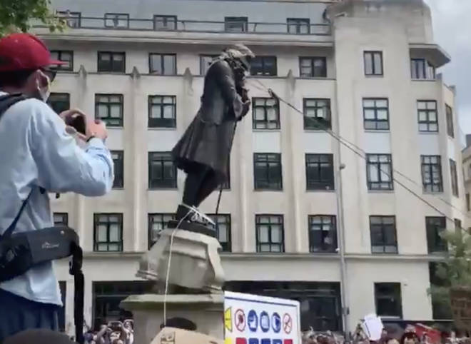 The statue was toppled by anti-racism protesters on Sunday