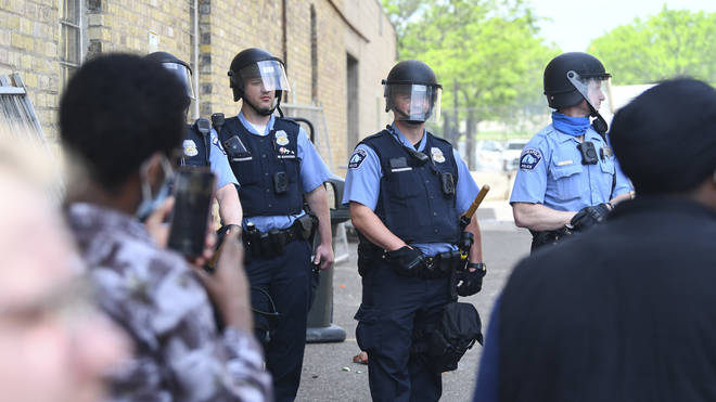 Police in Minneapolis have faced violent clashes and protests since the death