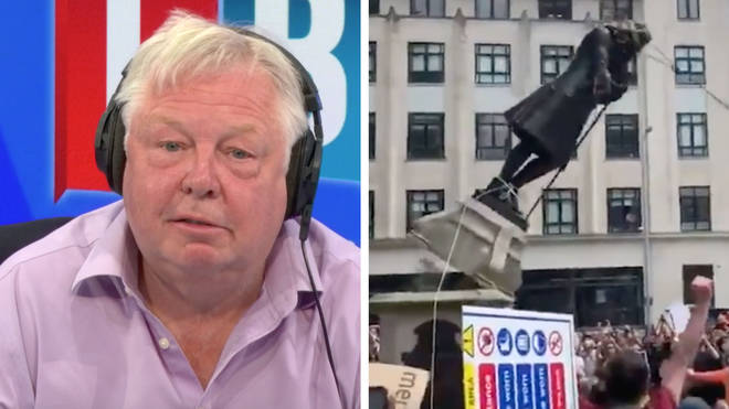 Nick Ferrari was furious at the police over the toppling of the statue
