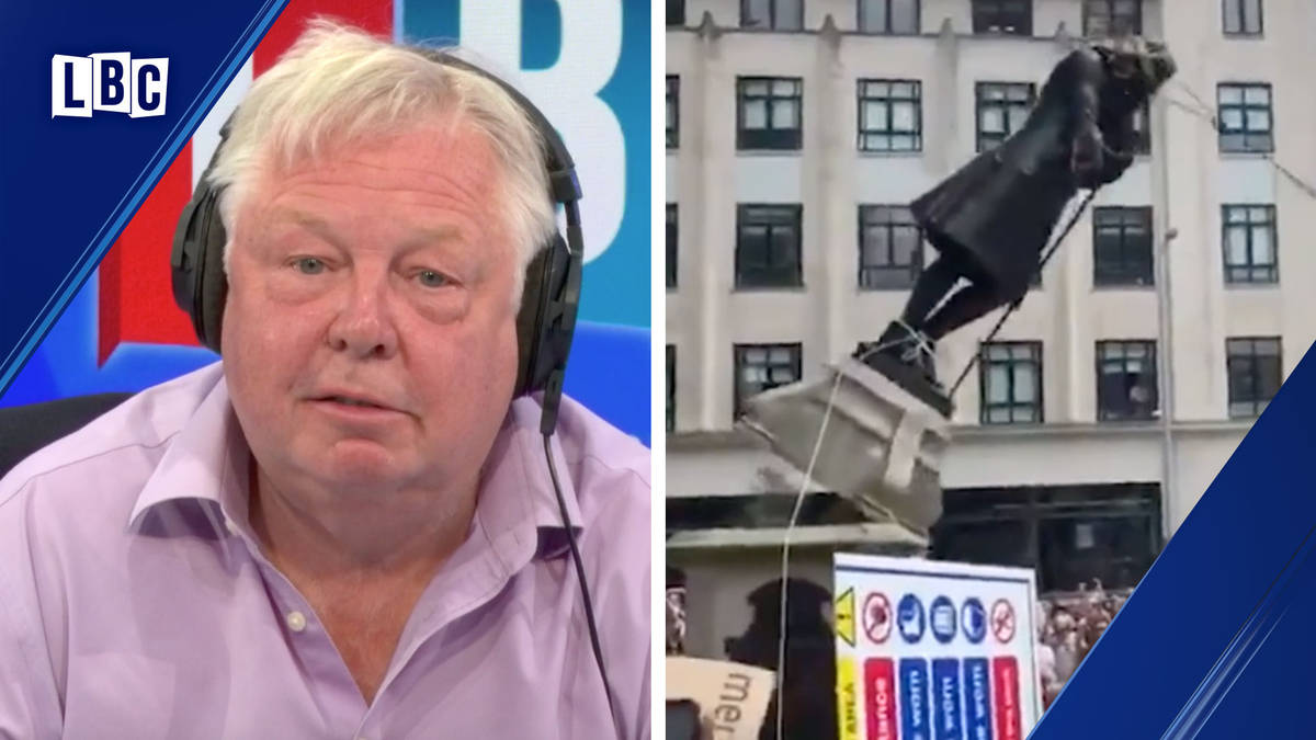"""Nick Ferrari's fury at """"incompetent"""" police over Colston statue being toppled in Bristol"""