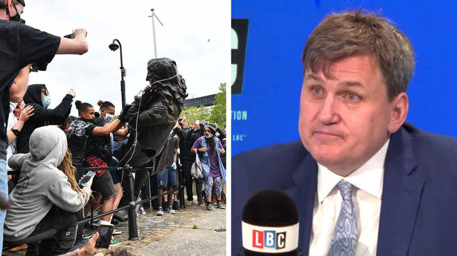 Kit Malthouse said he hoped people would be prosecuted over the statue being ripped down