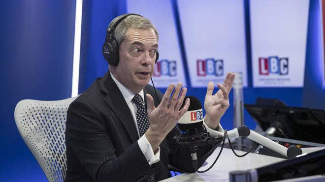 Nigel Farage in the studio