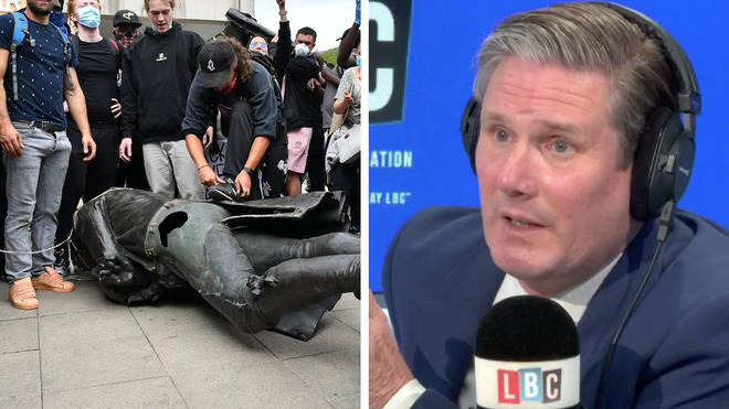 Sir Keir Starmer said there should not be a statue of Edward Colston
