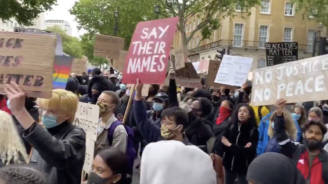 Thousands of people joined the protests in London against racism and police brutality