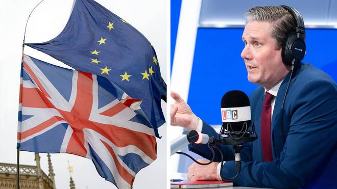Sir Keir Starmer said the Brexit debate was over