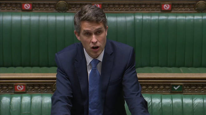 Education Secretary Gavin Williamson was speaking in the Commons on Tuesday