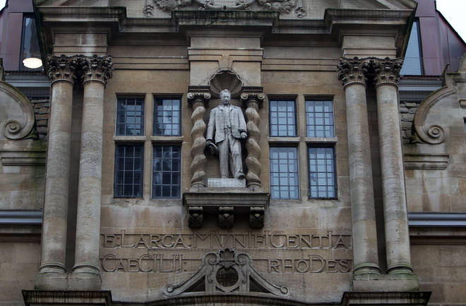 The depiction of Cecil Rhodes has been called to be removed from the front of Oriel College