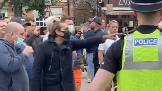 Footage has been posted online of people shouting at protestors.