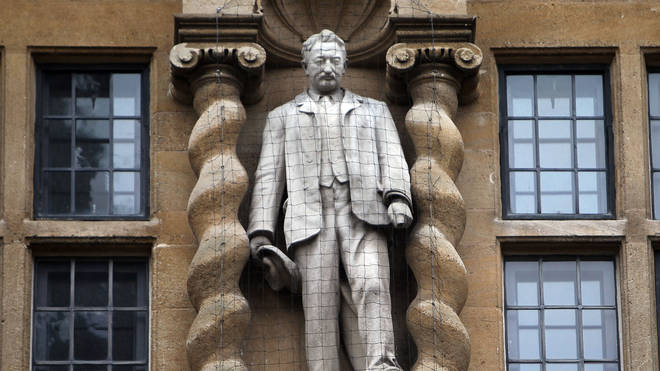 The statue of Cecil Rhodes sits at the front of Oxford's Oriel College