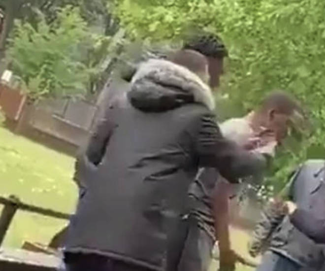 At least one person was spotted taking a selfie with the incident next to them