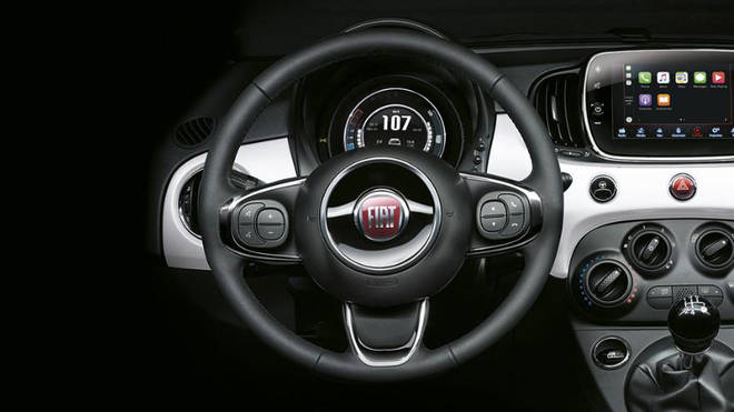 The Fiat 500 POP's interior