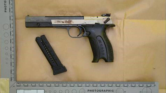 Police say this was the gun used to kill journalist Lyra McKee