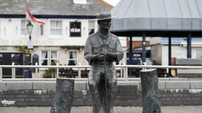 The statue of Robert Baden-Powell has been earmarked for temporary storage