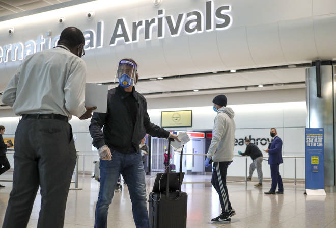 Passengers entering the UK have to self-isolate for 14 days