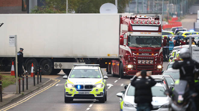 The bodies of 39 migrants were found in the back of a lorry in Essex in October