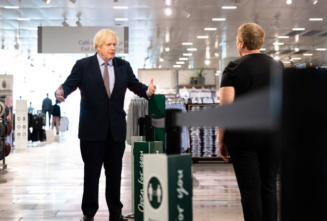 Boris Johnson has called for an urgent review ahead of shops reopening on Monday
