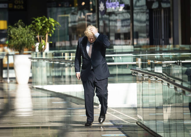Boris Johnson visited London's Westfield ahead of reopening