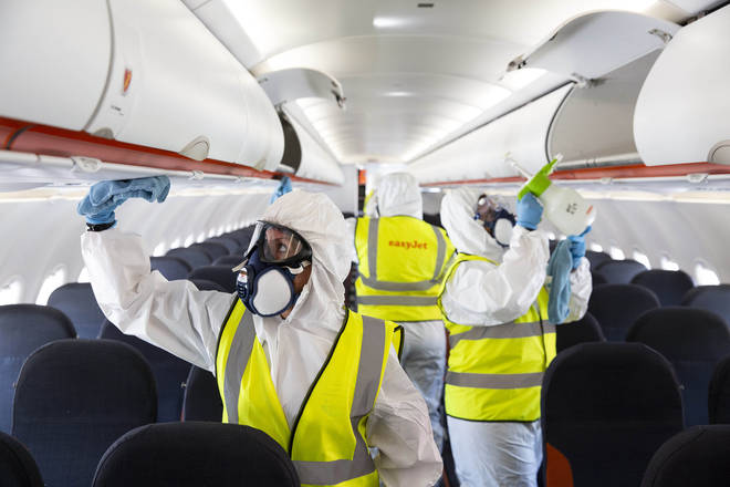 Planes will be subject to special cleaning methods