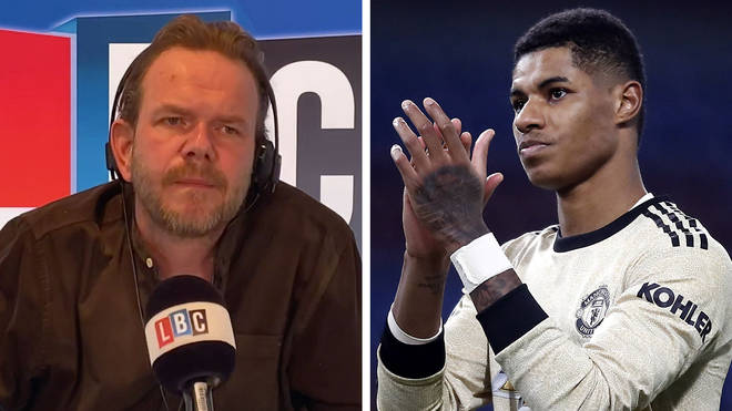 James O'Brien compared Marcus Rashford and Boris Johnson's comments