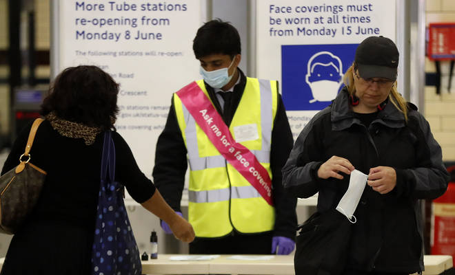 It is now compulsory in England to wear PPE on public transport
