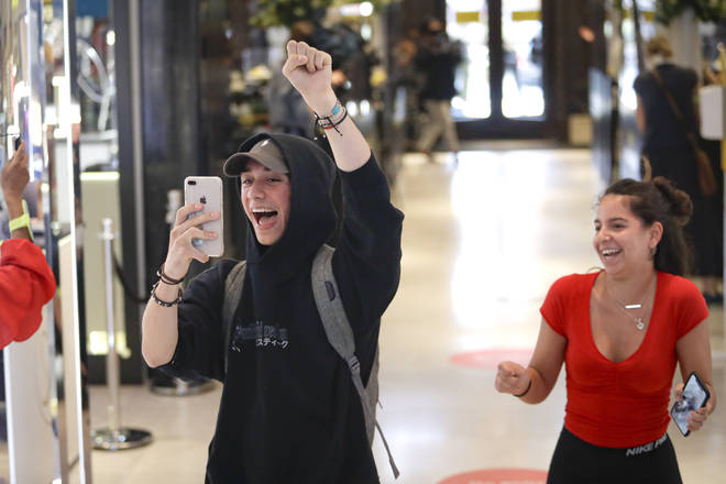 Customers cheered as they walked through the Selfridges doors