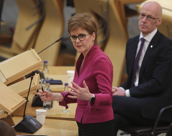 "Ms Sturgeon said ministers expect councils to put in place arrangements that ""absolutely maximise"" the amount of time youngsters spend in school"