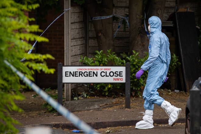 The toddler was shot in Energen Close, Harlesden, on 3 June