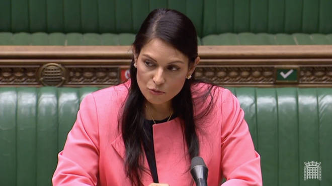 Priti Patel was speaking in the House of Commons on Monday