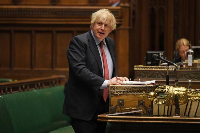 """Boris Johnson made a statement in the commons about """"global Britain"""""""