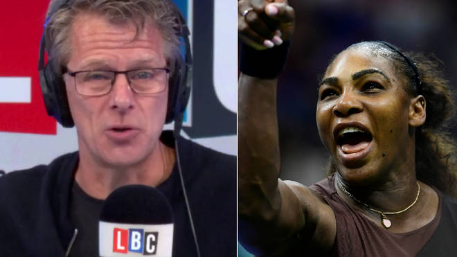 Andrew Castle discussed Serena Williams' outburst