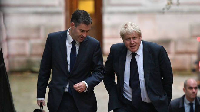 David Gauke and Boris Johnson