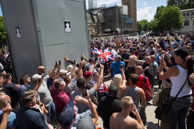Right wing protestors congregated in London over the weekend
