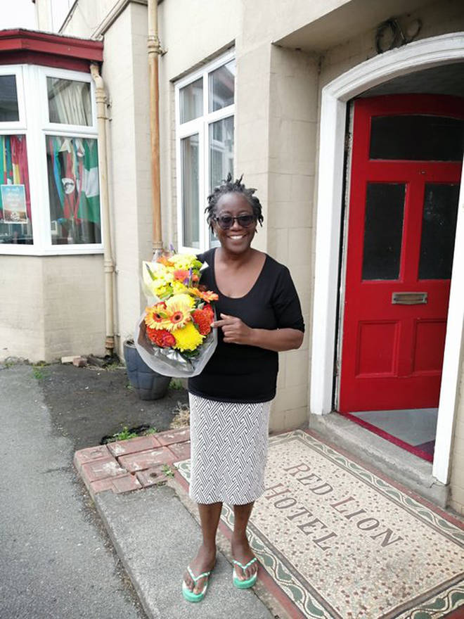 Neighbours have rallied around Margaret Ogunbanwo following the racist incident