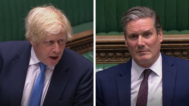 Boris Johnson and Keir Starmer clashed over schools at PMQs