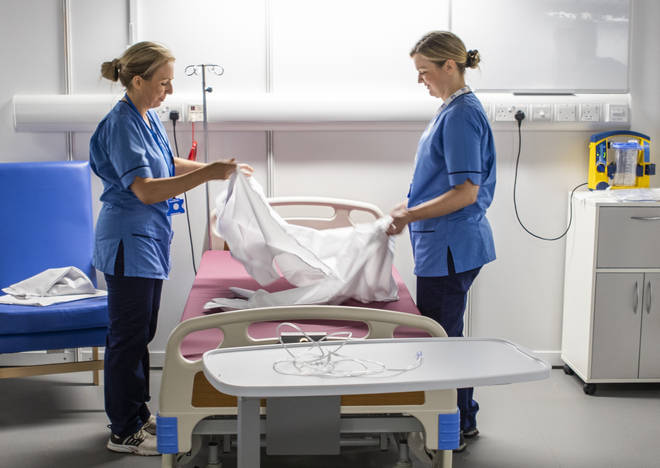 Student nurses were drafted in to work on coronavirus wards