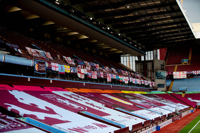 Aston Villa fans were asked to send in their flags for display in Villa Park