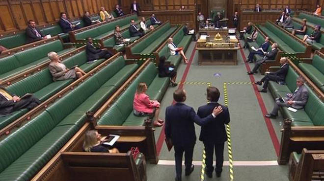 Matt Hancock has apologised after breaking social distancing rules in Parliament