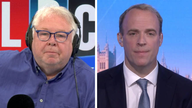 Dominic Raab told Nick Ferrari they would not touch the triple lock pension