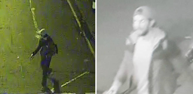 Two of the suspects police want to identify following the sexual assaults.