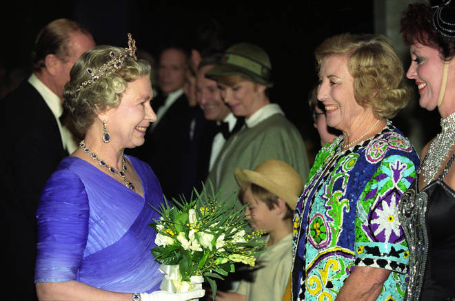 The Queen and Dame Vera Lynn in 1992