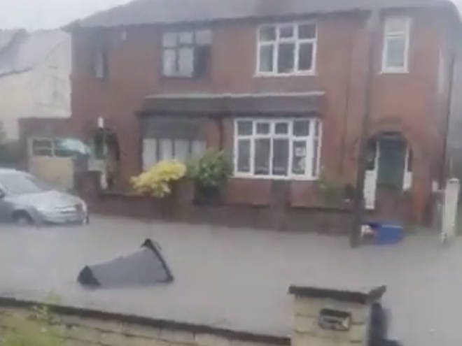 Severe flooding hit parts of the country including Derbyshire
