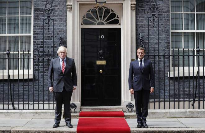 Mr Johnson and Mr Macron met at Downing Street on Thursday