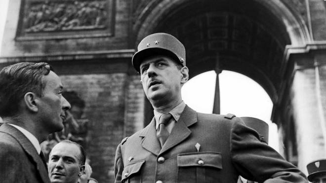 Charles De Gaulle (R) broadcast the 'L'Appel' on the BBC to Nazi occupied France