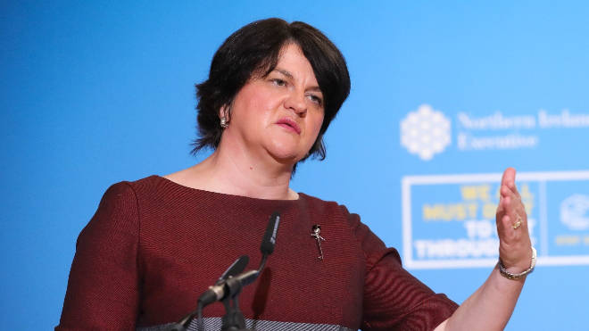 Arlene Foster said the measure would allow schools to return close to normality