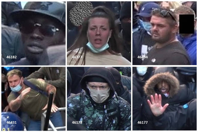 People want to speak to these people about violent clashes that happened in London over a weekend of protests