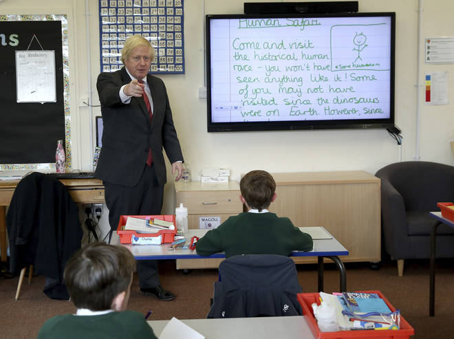 """Boris Johnson said to """"watch this space"""" on social distancing in schools"""