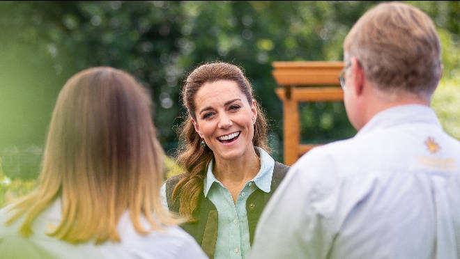 Kate visited Fakenham Garden Centre near her Norfolk home