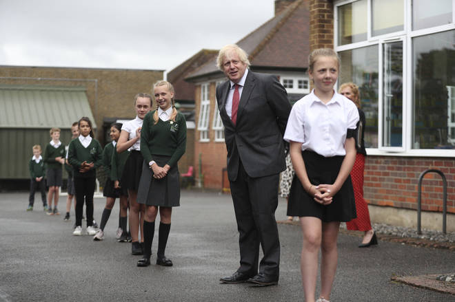 The PM visited a school in Hemel Hempstead on Friday