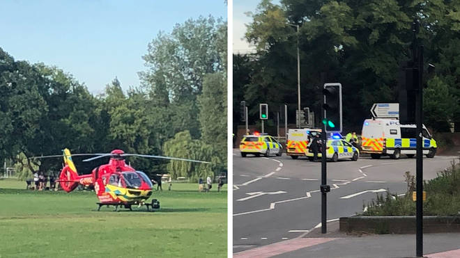 There's a big police presence at the serious incident in Forbury Gardens, Reading