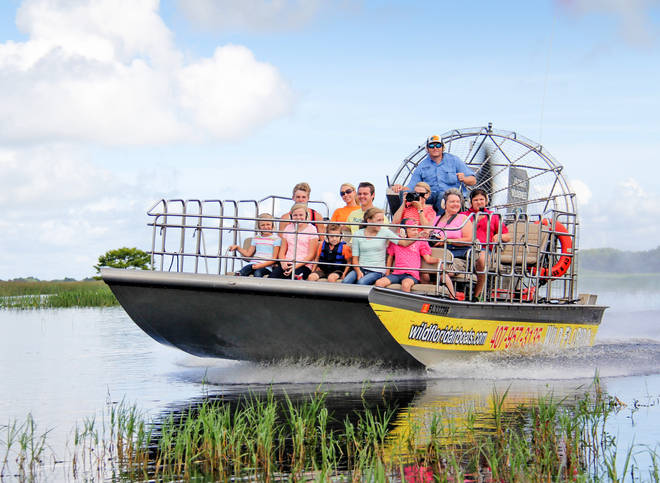 An airboat tour in Florida